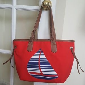 Croft & Barrow Nautical Sailboat Tote NWT